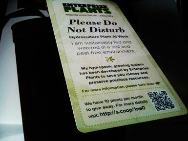 hydroponic plant tag