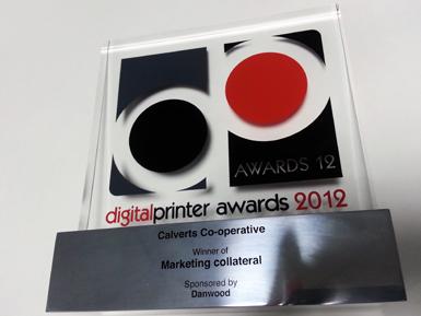 Digital Printer Awards 2012 Trophy