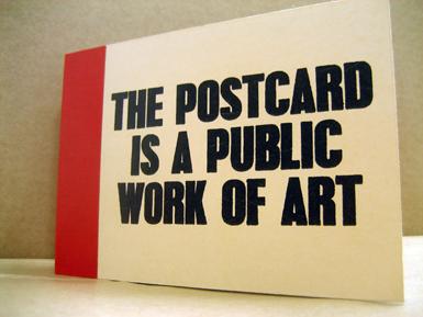 Postcard book cover