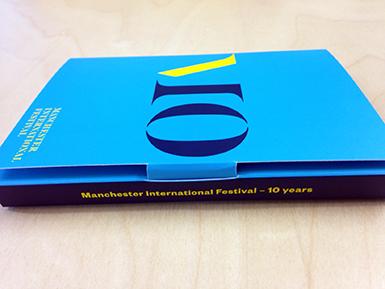 Manchester International Festival postcard closing mechanism