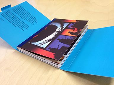 Manchester International Festival postcard book open