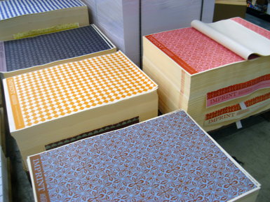 Wrapping paper on pallets
