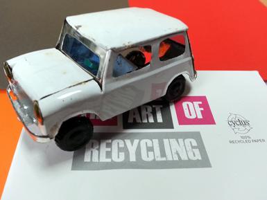 Recycled mini car