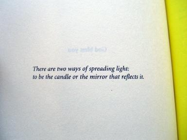 open book text