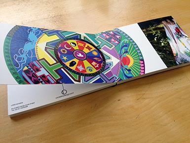 Circleline postcard book open