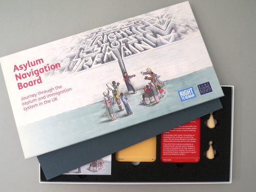 Asylum Navigation Board Game Box